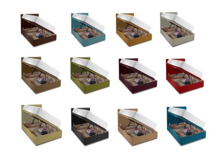 bce8c7f47917 Shire Beds 4ft Small Double Side Lift Ottoman Base (CHOICE OF COLOURS) by Shire  Beds