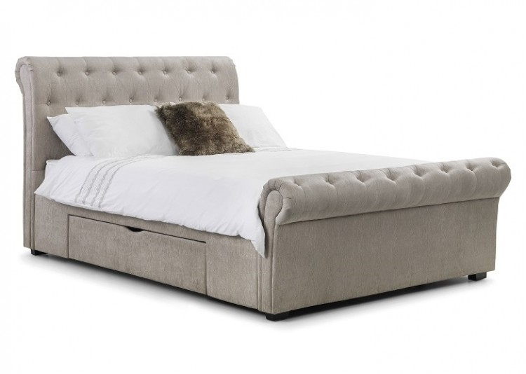 Julian Bowen Ravello 5ft Kingsize Mink Fabric Storage Bed Frame by ...