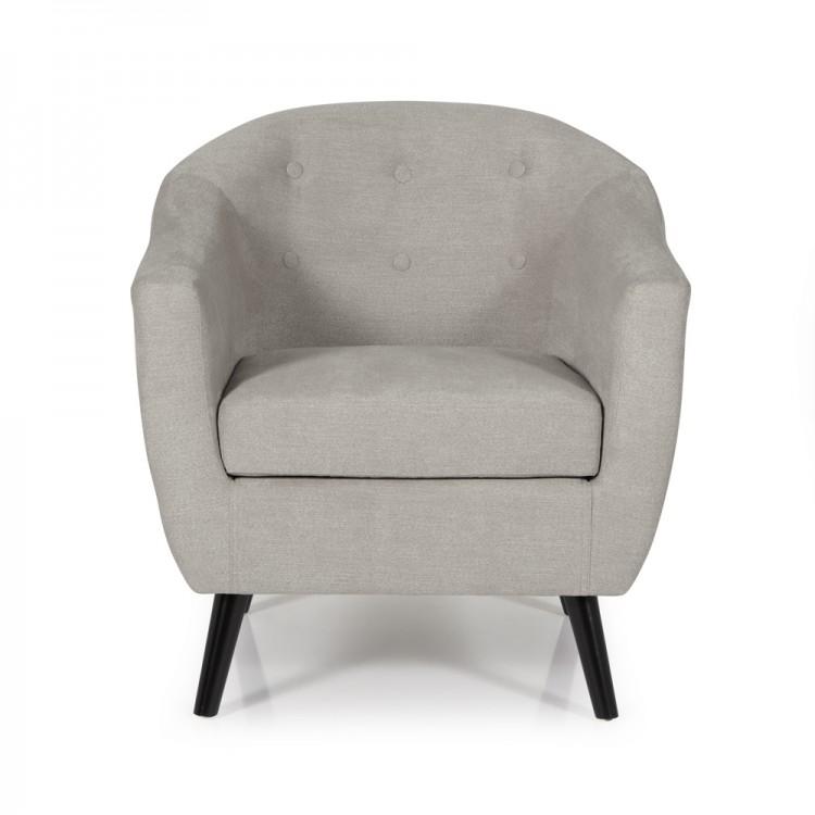 serene evie grey fabric tub chair by serene furnishings. Black Bedroom Furniture Sets. Home Design Ideas