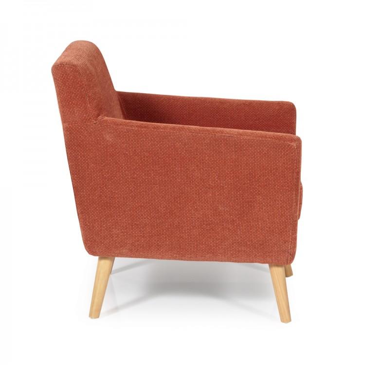 Orange Fabric Tub Chair Show More Information