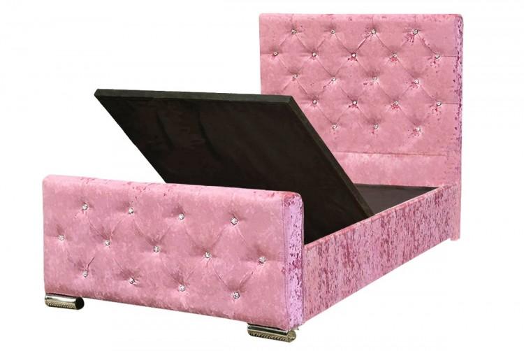 Sleep Design Beaumont 3ft Single Crushed Pink Velvet