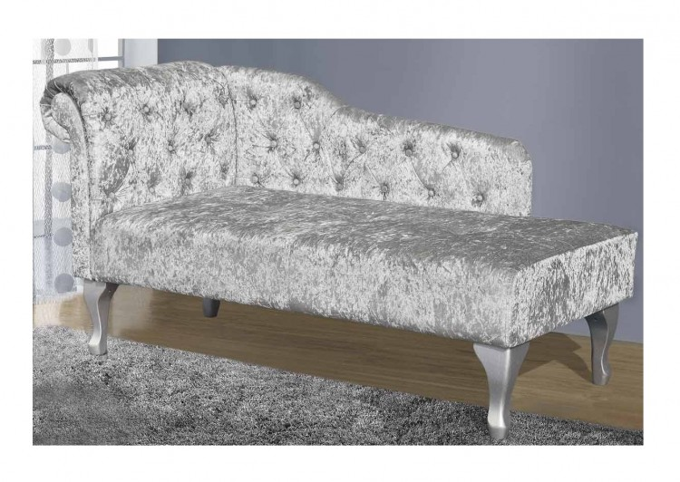 Outstanding Sleep Design Buckingham Crushed Silver Velvet Chaise Lounge Gmtry Best Dining Table And Chair Ideas Images Gmtryco