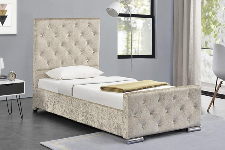 Sleep Design Beaumont 3ft Single Crushed Gold Velvet