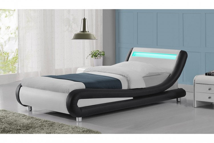 Tremendous Sleep Design Barcelona 3Ft Single Black And White Faux Dailytribune Chair Design For Home Dailytribuneorg
