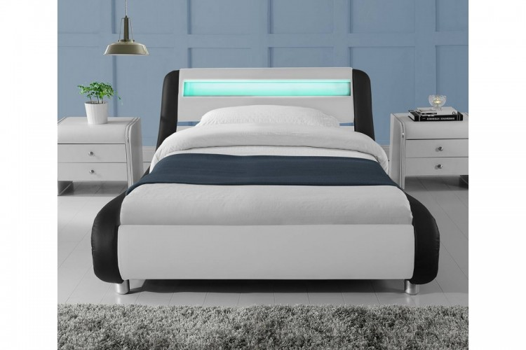 Sleep Design Madrid 3ft Single Black And White Faux