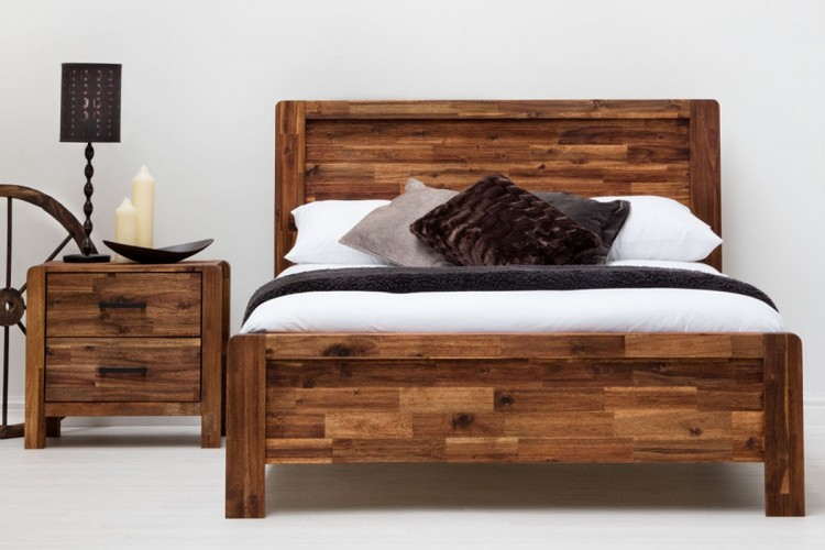 Sleep Design Chester 4ft6 Double Rustic Wooden Bed Frame