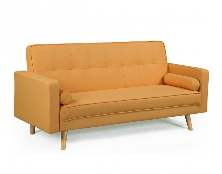 Sleep Design Boston Yellow Fabric Sofa Bed By Sleep Design