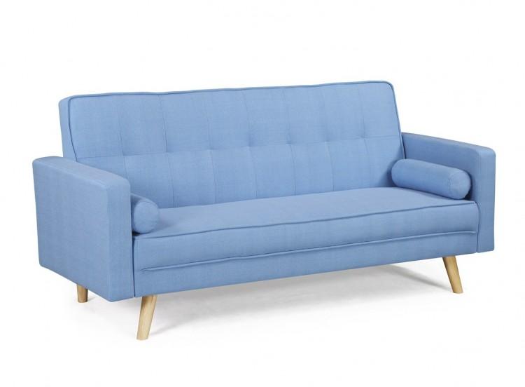 Design Boston Sky Blue Fabric Sofa Bed