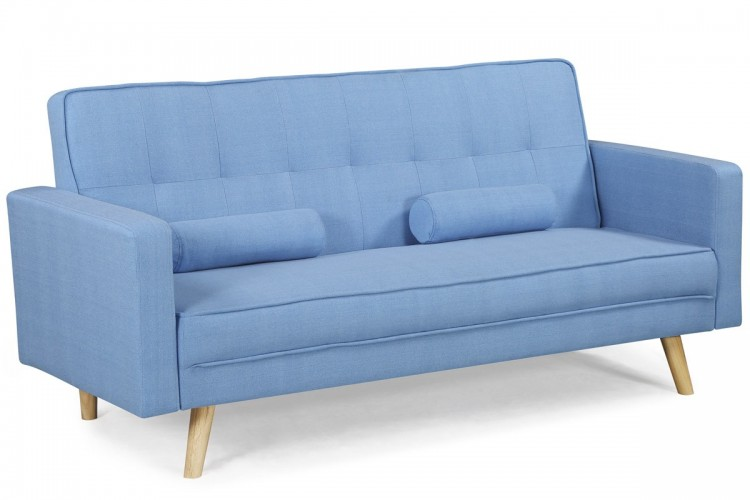 Sleep Design Boston Sky Blue Fabric Sofa Bed By Sleep Design