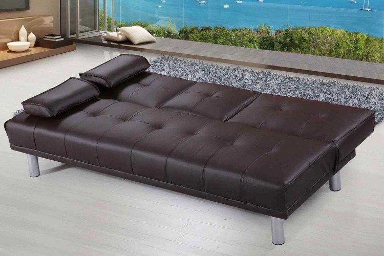 Sleep Design Manhattan Brown Faux Leather Sofa Bed By Sleep Design