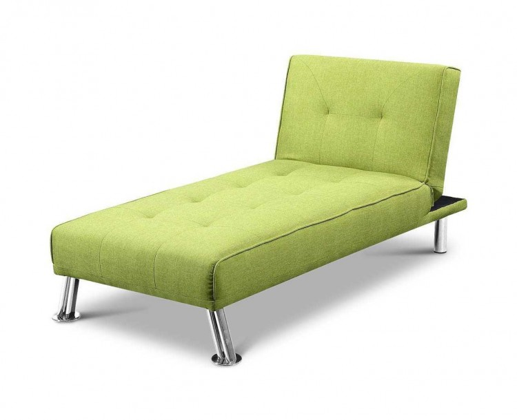 sleep design new york green fabric chaise lounge bed by sleep design. Black Bedroom Furniture Sets. Home Design Ideas