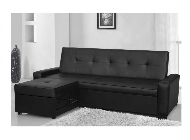 Miraculous Sleep Design Seattle Black Faux Leather Sofa Bed By Sleep Design Caraccident5 Cool Chair Designs And Ideas Caraccident5Info