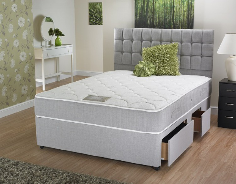 La romantica carrissa 6ft super kingsize ortho divan bed for 6 foot divan