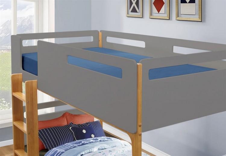 Birlea Islington 3ft Single Oak And Grey Wooden Bunk Bed By Birlea