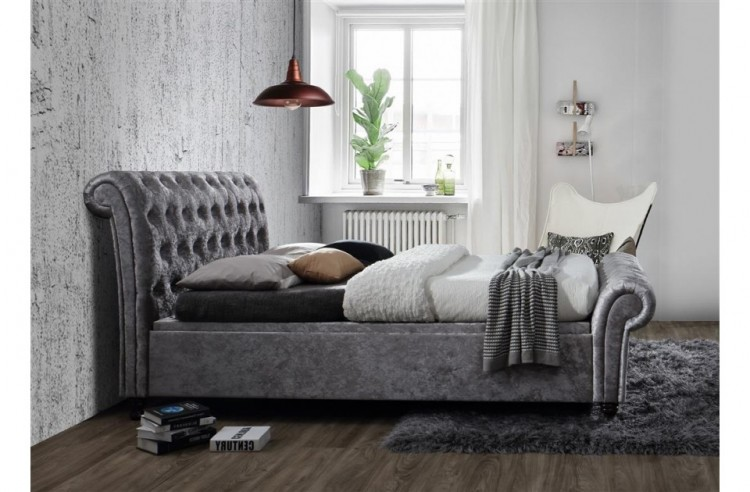 768568d11e5 ... Birlea Castello 6ft Super Kingsize Steel Crushed Velvet Fabric Ottoman  Bed Frame. Show More Information