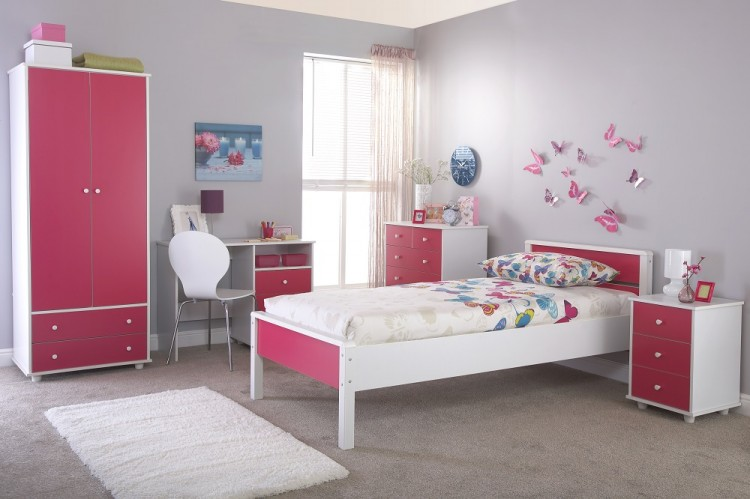 GFW Miami Pink 5 Piece Bedroom Furniture Set by GFW