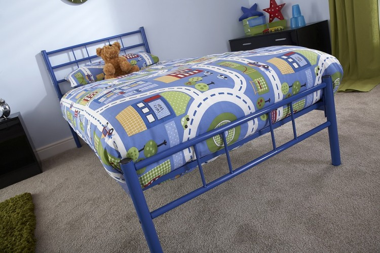GFW Morgan 3ft Single Blue Metal Bed Frame by GFW