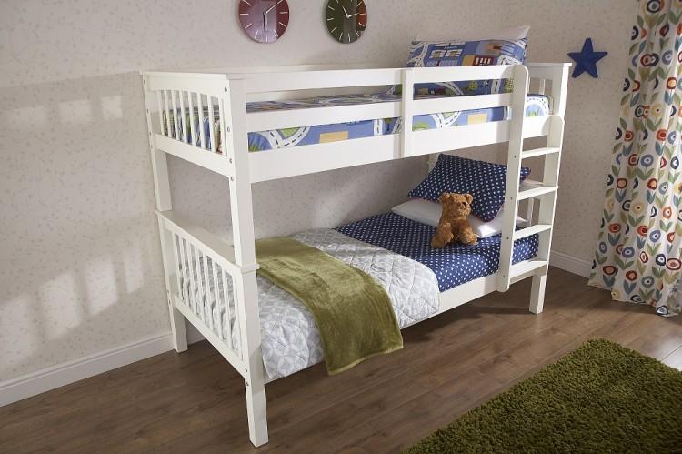 Gfw Novaro White Wooden Bunk Bed By Gfw