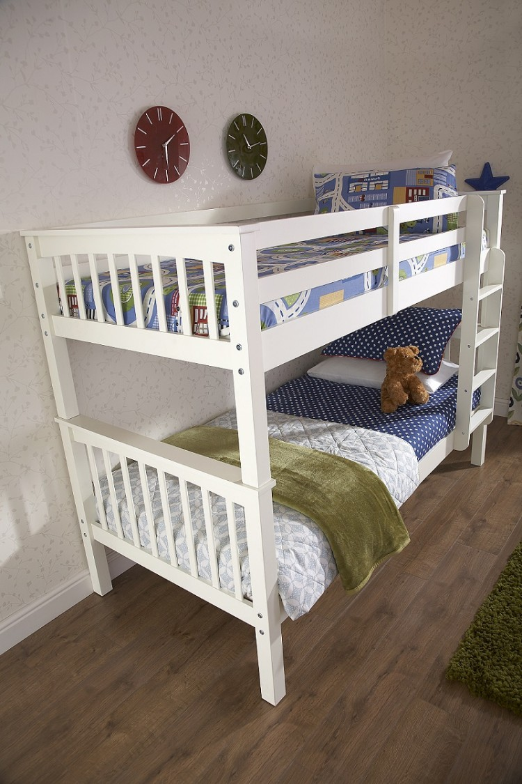 Gfw Novaro White Wooden Bunk Bed By Gfw