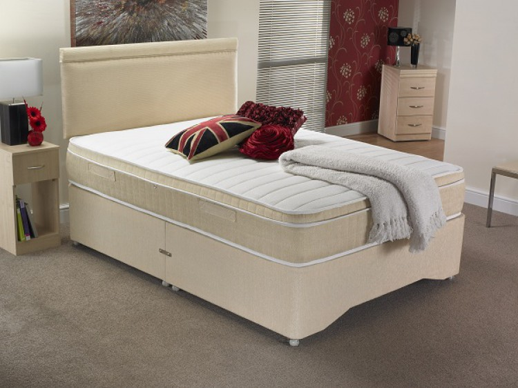 La romantica lovell 3ft single 1000 pocket and memory for Single divan bed with pocket sprung mattress