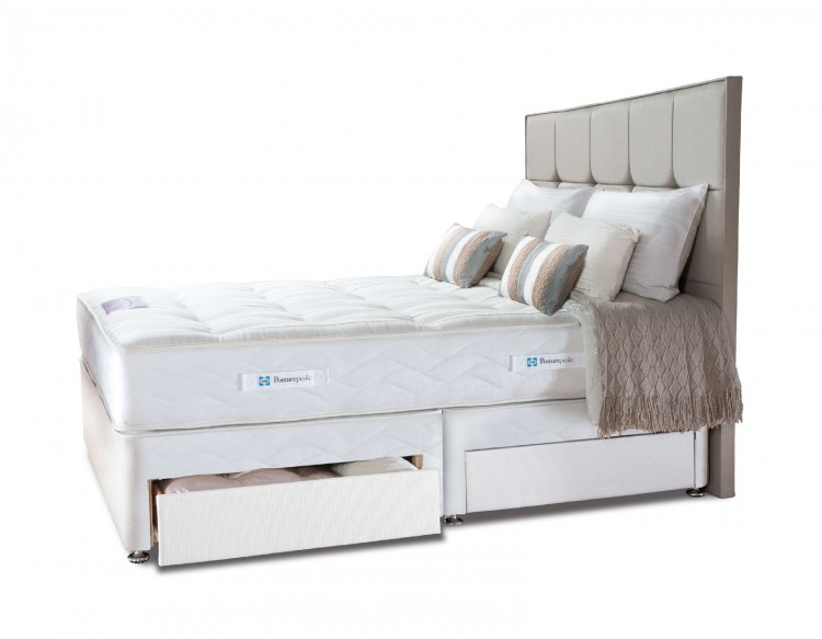 Sealy pearl elite 4ft small double divan bed by sealy for Small double divan bed with headboard