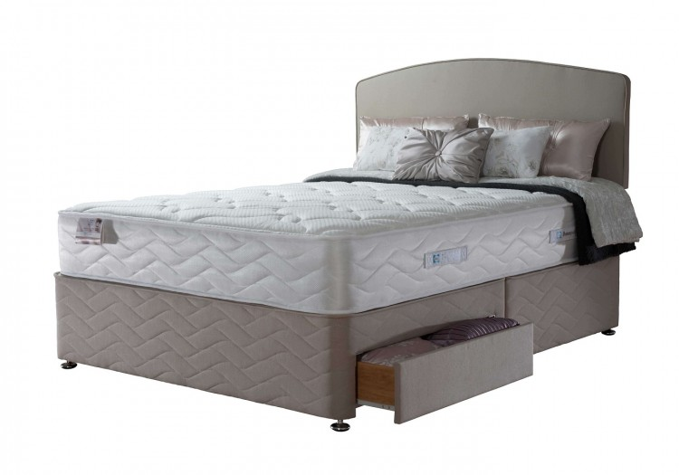 Sealy casoli 1200 pocket 3ft single divan bed by sealy for 3 foot divan bed