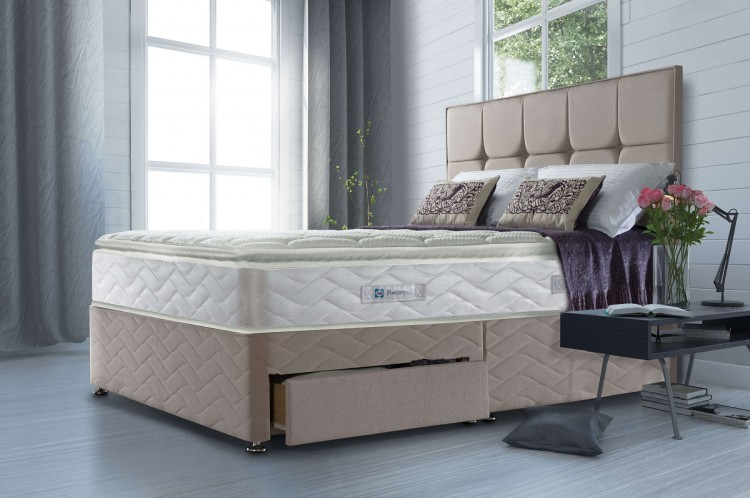 Sealy nostromo 1400 pocket 4ft6 double divan bed by sealy for Double divan no mattress