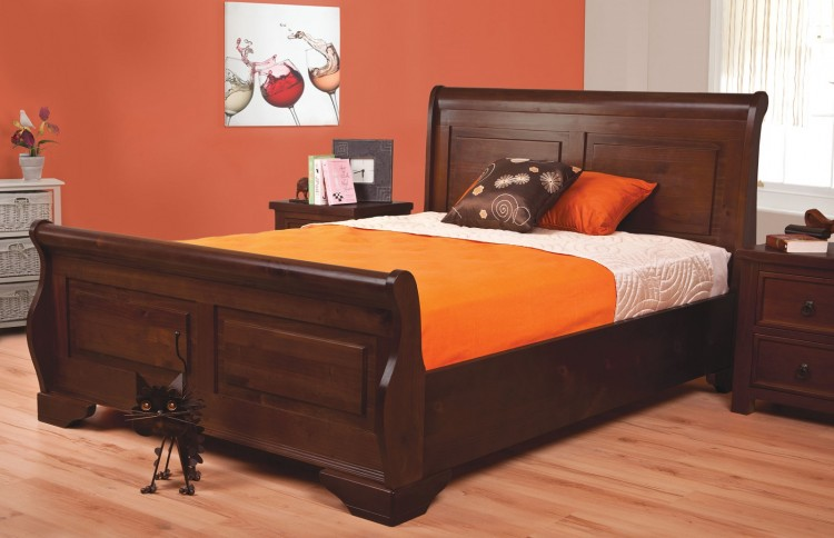 Sweet Dreams Jackdaw 4ft6 Double Mahogany Bed Frame By