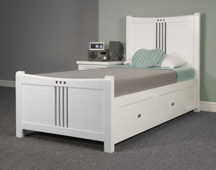 Sweet Dreams Curlew Wild Cherry 4ft 6 Double Wooden Bed Frame With Under Bed Drawers