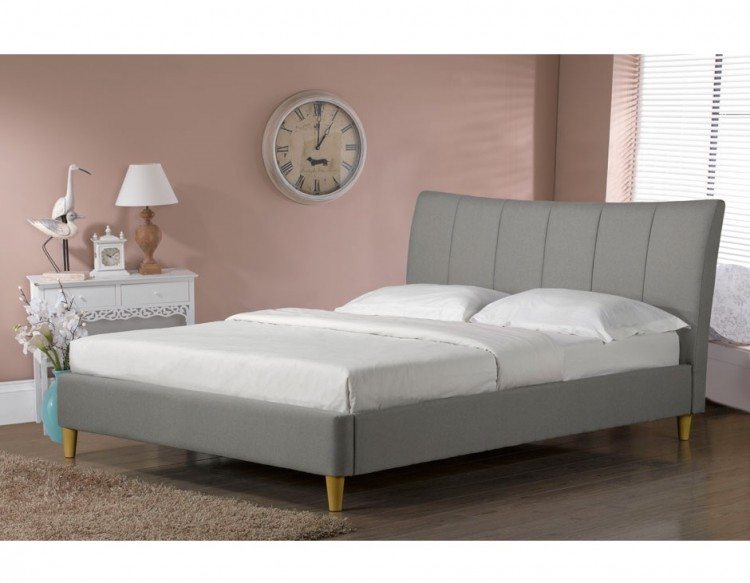 Sweet Dreams Nelson 4ft6 Double Slate Fabric Bed Frame By