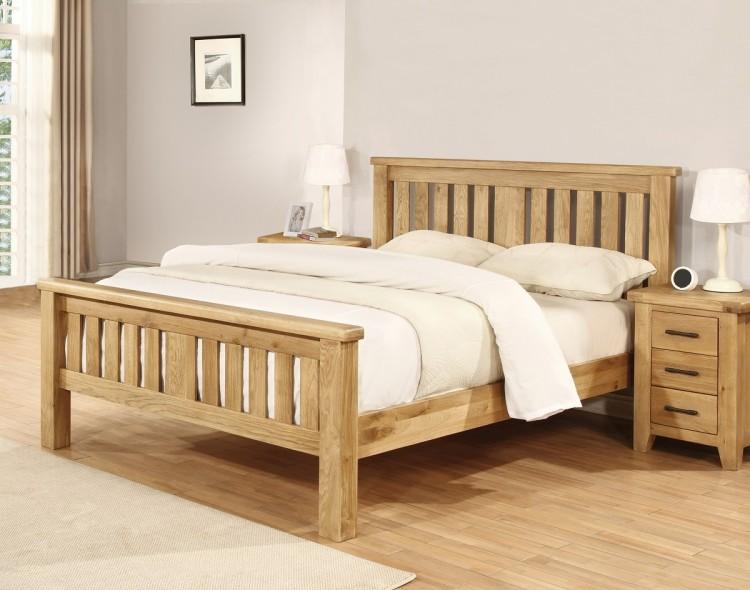 Sweet Dreams Lawrence 5ft Kingsize Solid Oak Bed Frame By Sweet Dreams