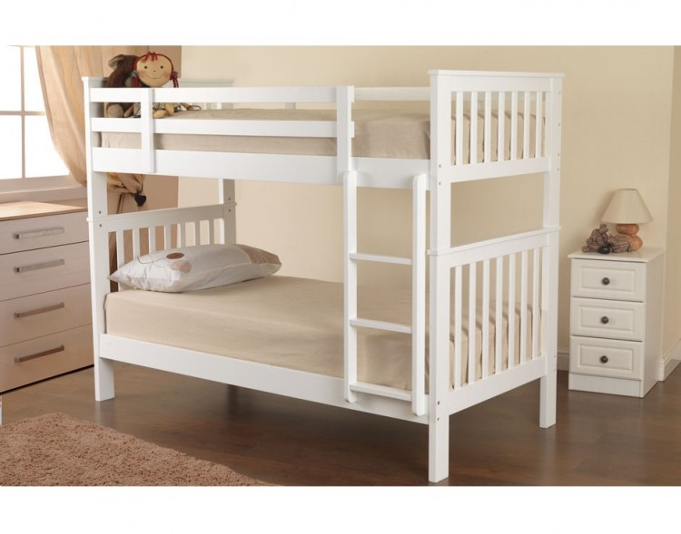 4a796ecb0088 Sweet Dreams Kipling Ruby White Wooden Bunk Bed