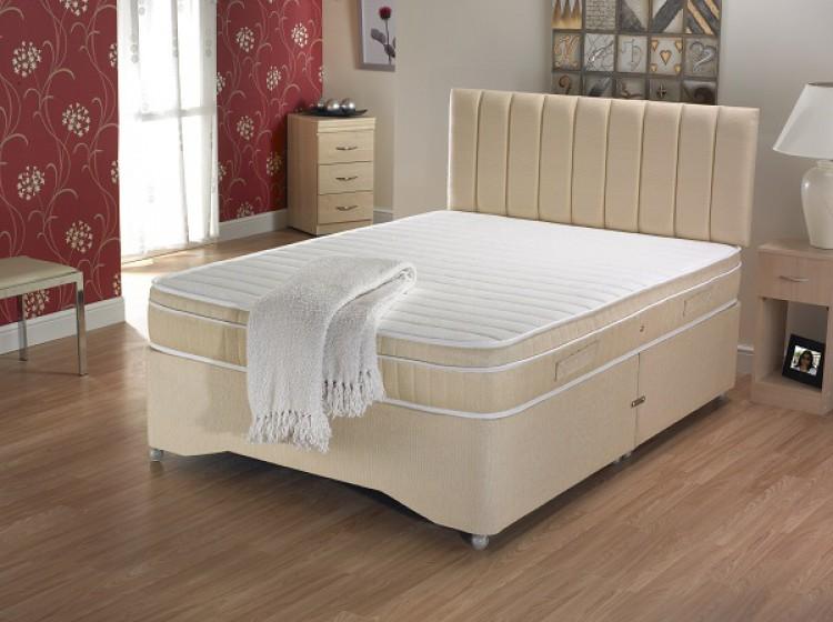 La romantica shantay 3ft single memory foam divan bed by for Memory foam divan
