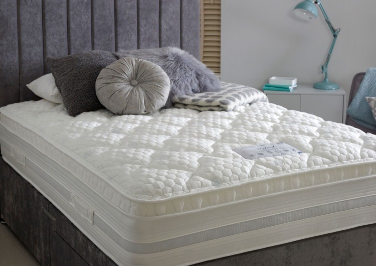 Dura Bed Oxford 1000 Pocket Sprung 5ft Kingsize Divan Bed With Memory Foam By Durabed
