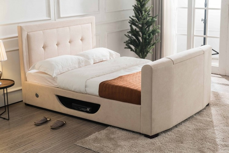 Excellent Flair Furnishings Juliet 5Ft Kingsize Ottoman Tv Bed In Andrewgaddart Wooden Chair Designs For Living Room Andrewgaddartcom