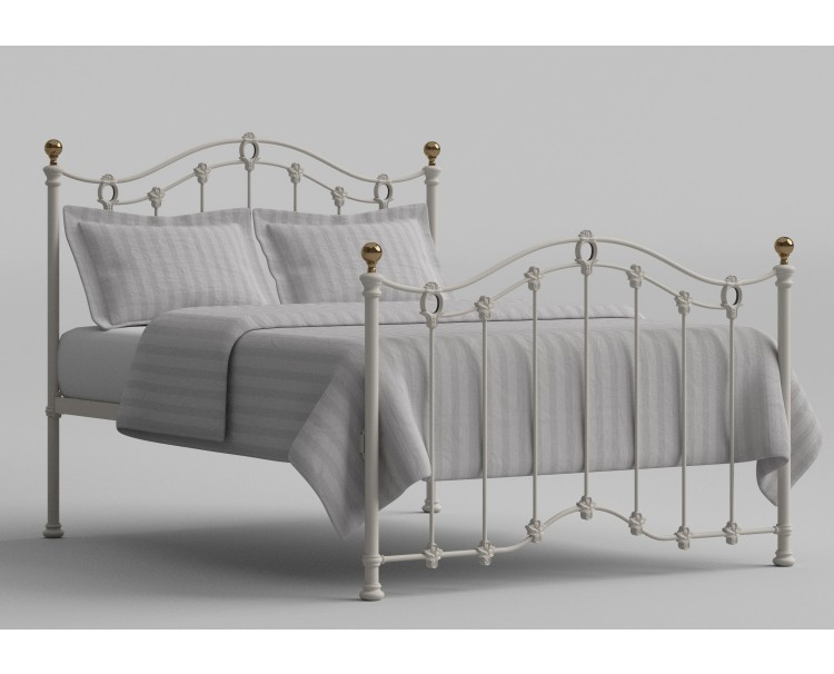 2d7cec431ffd OBC Clarina 5ft Kingsize Ivory Metal Bed Frame by Original Bedstead Company