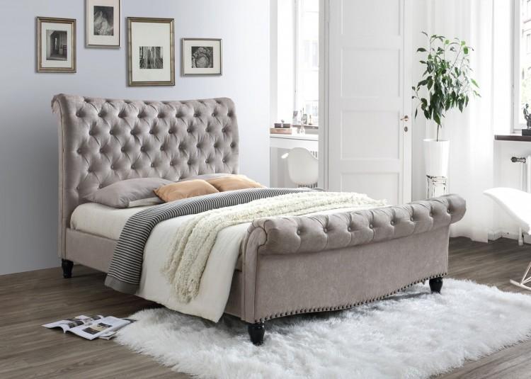 Limelight Larrisa 6ft Super Kingsize Mink Fabric Bed Frame by ...
