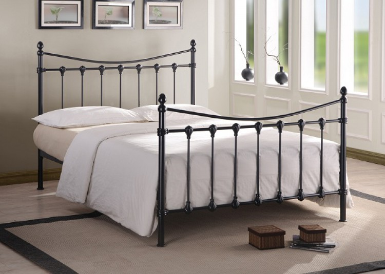 Time Living Florida 5ft Kingsize Black Metal Bed Frame By Time Living