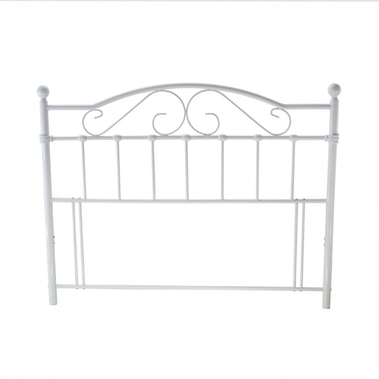 metal beds sussex 4ft small double white metal headboard. Black Bedroom Furniture Sets. Home Design Ideas