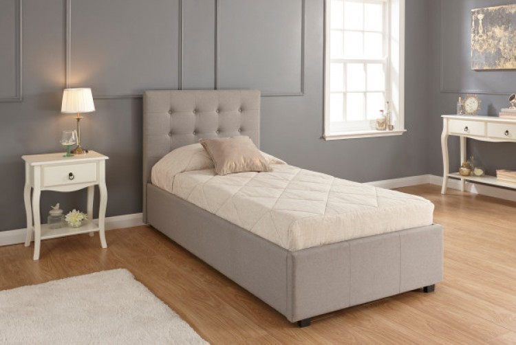 Light Grey Ottoman Bed Frame