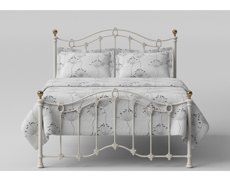 OBC Clarina Low Foot End 5ft Kingsize Ivory Metal Bed Frame
