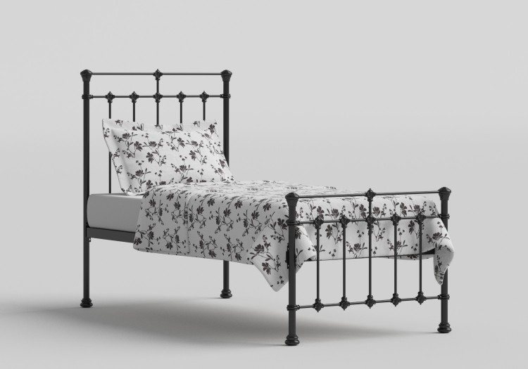 new styles 0584b 0472d OBC Edwardian 2ft 6 Small Single Satin Black Metal Bed Frame ...