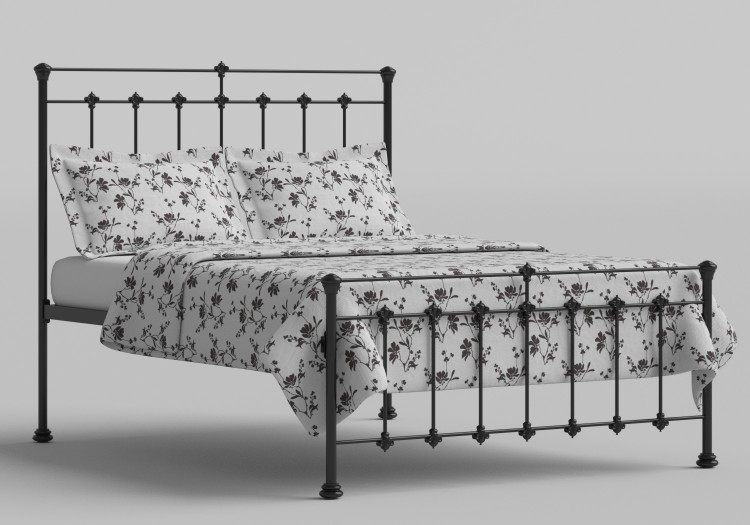 0e822888114f OBC Edwardian 4ft Small Double Satin Black Metal Bed Frame by Original  Bedstead Company