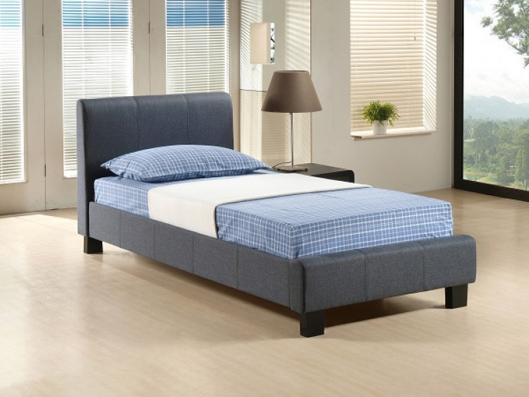 Time living hamburg 3ft single grey fabric bed frame by for Low height single divan bed