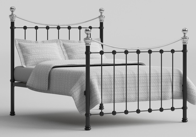 5d90f45e1264 OBC Selkirk 4ft Small Double Chromo Black Metal Bed Frame by Original  Bedstead Company