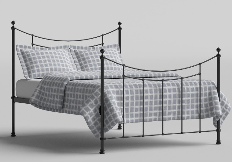 e1cccd8e018f OBC Winchester 4ft 6 Double Satin Black Metal Bed Frame by Original  Bedstead Company