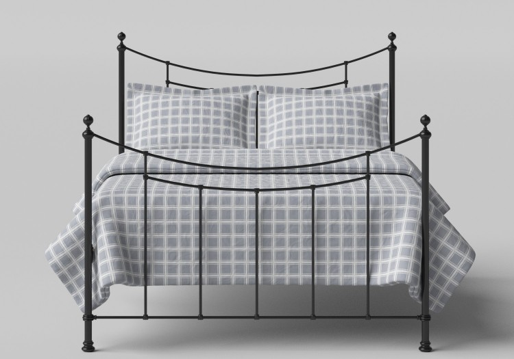 d1be0520c30d OBC Winchester 4ft 6 Double Satin Black Metal Headboard by Original  Bedstead Company
