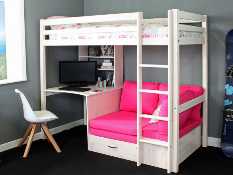 Thuka Hit 7 Childrens High Sleeper Bed With Desk And