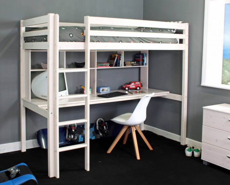 Thuka Hit 10 Childrens High Sleeper Bed With Desk By Thuka