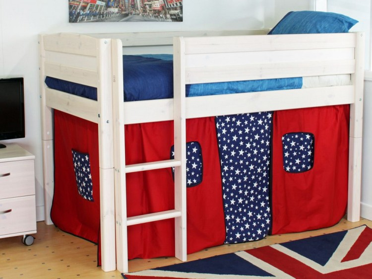 Thuka Trendy Shorty B Midsleeper Bed With Straight Ladder By